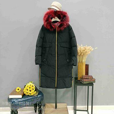 上海知名羽绒服品牌雪伦女装折扣店货源找广州明浩高清大图