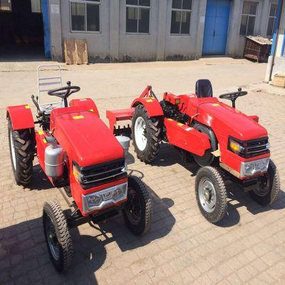 四轮可配旋耕机开沟机 果园用矮架拖拉机 低矮型32马力四轮拖拉机