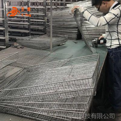 厂家直销304不锈钢烘箱托盘 筛网式烘干机托盘 热风烘箱专用托盘