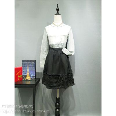 广州品牌女装飞度旗下米薇希秋装时尚大版风衣连衣裙正品货源批发
