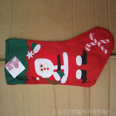 现货库存低价处理 无纺布圣诞袜 雪人礼盒袜 圣诞挂件创意袜