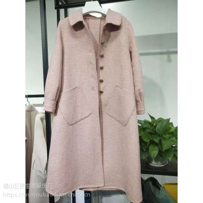 江西呢子大衣新款阿尔巴卡呢子大衣一手货源