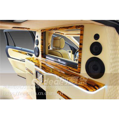深圳兴万创改装奔驰R320 奔驰内饰改装隔断吧台加装升降电视