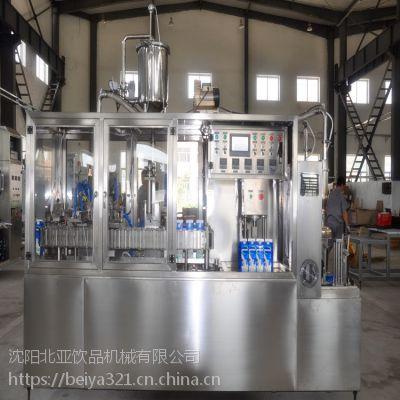 供应沈阳北亚生产果汁屋顶盒灌装机半自动