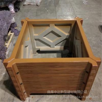 南京市厂家出售水泥仿木花箱规格1200*700*500,900*900*700