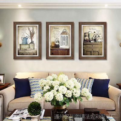 装饰装饰画客厅美式装饰画沙发背景墙挂画卧室餐厅挂画