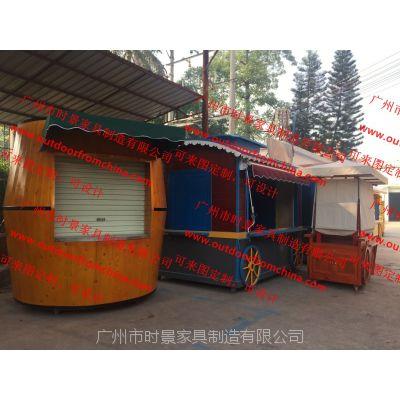 木质售货车鄂州户外售货车 实木售货车潍坊玻璃钢售卖亭