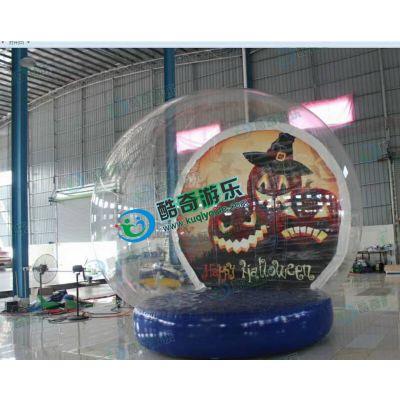 圣诞充气水晶球充气透明雪花球充气圣诞老人
