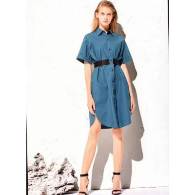 石家庄高端一线品牌大码女装尾货连衣裙T恤批发女装折扣店货源