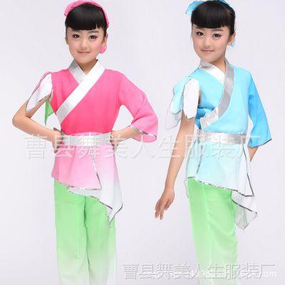 儿童书童演出服 幼儿国学班表演服装 古装汉服弟子规三字经衣服