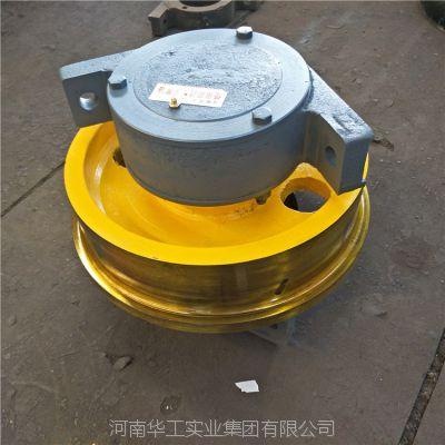 亚重直径350*100单边龙门吊轨道轮 角型轴承箱车轮组 行车轮 优质耐用