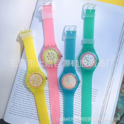 厂家直销硅胶手表 糖果色斯沃成人儿童石英表 男士女士学生手表