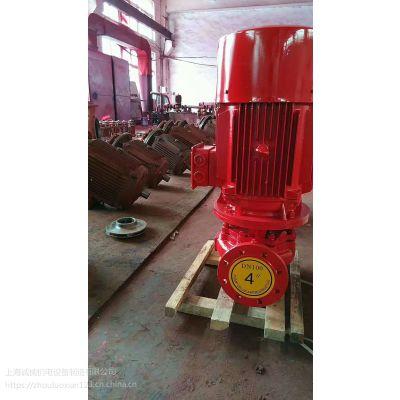 消防切线泵图片XBD5/5-HY多级水泵现场视频/泵房消防泵安装图