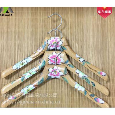 彩木衣架 个性榉木衣架厂家直销衣文艺衣架展示用木衣挂