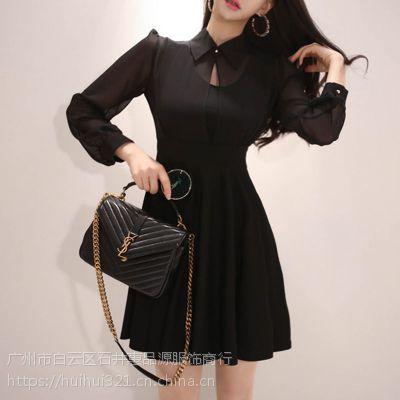 兰梦萱韩版女装折扣店加盟折扣 品牌女装批发在哪里尾货藏蓝色马甲背心
