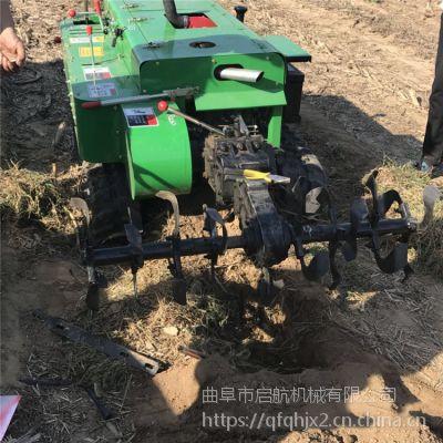 硬土质开沟施肥机 履带施肥开沟机 果园自走式旋耕除草机价格