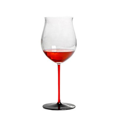 ins爆款红酒杯 水晶玻璃创意彩色高脚杯葡萄酒杯郁金香形酒杯定制