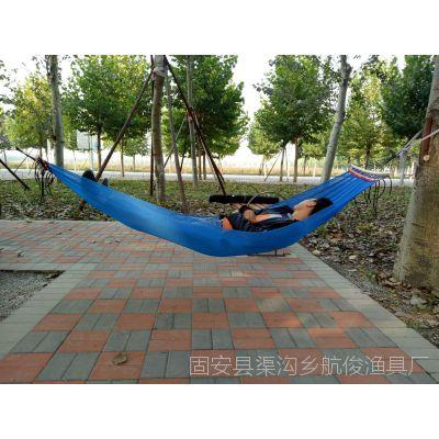 厂家直销吊床单人野营宿舍户外休闲网布吊床 送绑绳送安装包