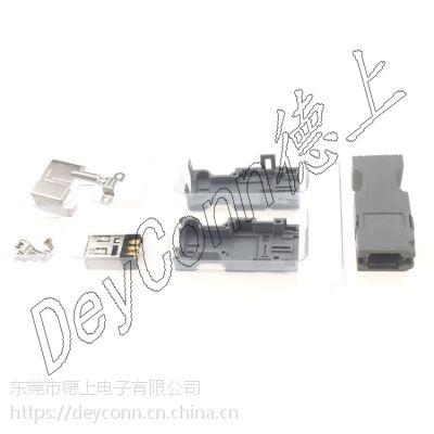 德上电子1394连接器 IEEE1394 6P焊线母头 MOLEX6P伺服放大器插头