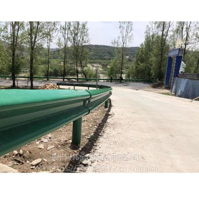 生产厂家定制加工波形护栏板 三波高速公路护栏 防撞栏波形梁护栏