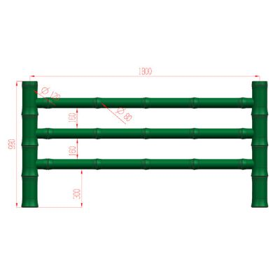 仿竹栏杆哪家好-仿竹栏杆-易商量装饰工程