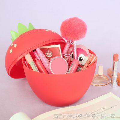 厂家直销定制图案 创意礼品化妆盒塑料多用途纸巾盒 草莓纸巾筒