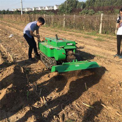 山地丘陵均适用履带式施肥开沟机 旋耕除草机