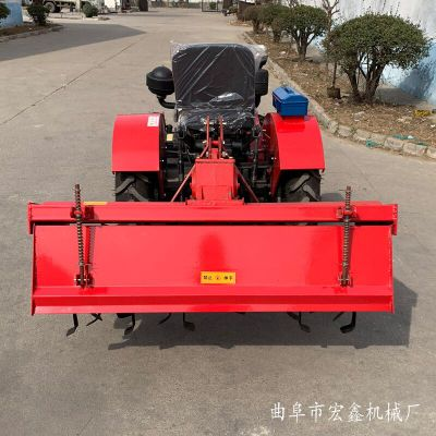 家用小型果园低矮迷你拖拉机 小型四轮拖旋耕机 矮架果园王四轮拖拉机