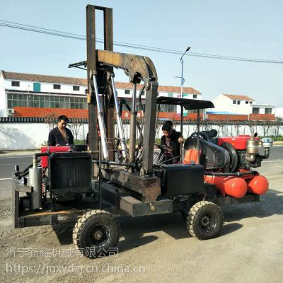 广东 小四轮护栏打桩机价格和图片
