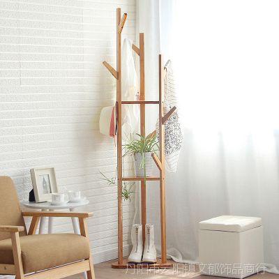 衣帽架简约简易卧室转角衣服架子落地现代家用立式挂衣架子