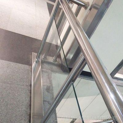 不锈钢玻璃栏杆商场酒店商务楼栏杆小区防护栏杆阳台栏杆专业定制