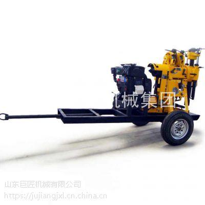 轮式水井钻机XYX-130百米液压钻井机拖车式水井钻机