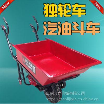 火龙果园摘果运输推车 燃油的独轮平板车报价 奔力 DL-BL-1