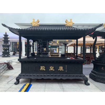 zy052供应大小铜长方形香炉,寺院铸铁长方形香炉厂家