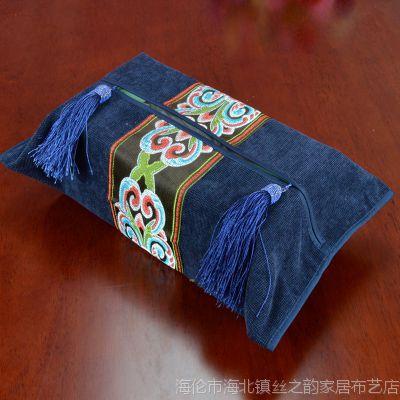 欧式美式新古典现代奢华家居布艺系列装饰纸巾套纸巾盒