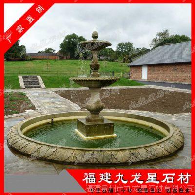 定制石雕水钵 大型喷水池 大理石水钵厂家