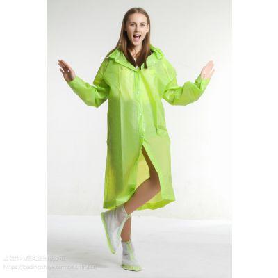 非一次性EVA环保雨衣连体纯色徒步雨衣雨具