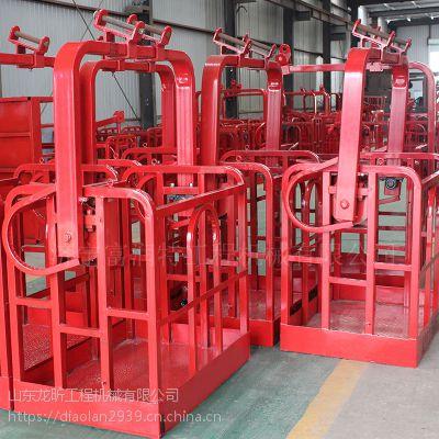 旋转吊车吊篮如何安装 12吨16吨汽车吊通用挎篮