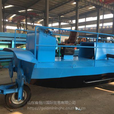 水葫芦清理机械设备 河道水草打捞船 水浮莲粉碎收集机器