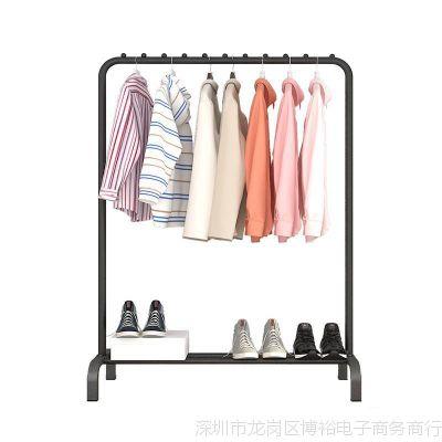 晾衣架落地单杆式室内挂衣架折叠晒衣架简易凉衣杆卧室挂衣服架子