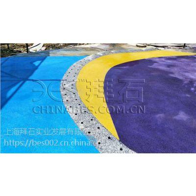 彩色砾石聚合物仿石砼-砾石聚合物仿石地坪-拜石
