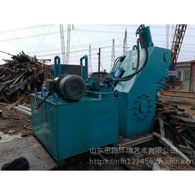小型金属废料龙门式液压剪切机 500吨双龙门剪切机现货 山东思路供应160-600吨切断机