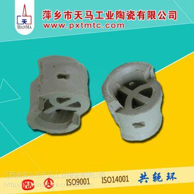 天马陶瓷高品质陶瓷散堆填料共轭环25mm 38mm 50mm