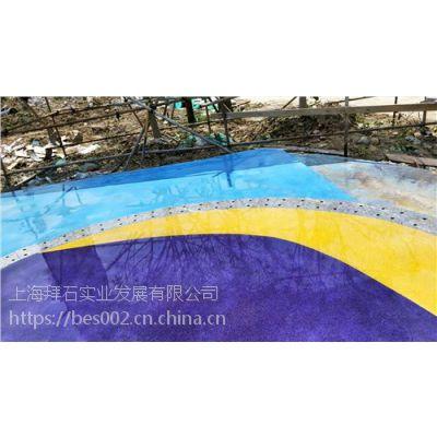 上海砾石聚合物地坪,北京砾石聚合物仿石砼-上海拜石