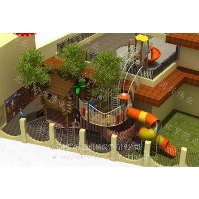 北京同兴伟业直销户外非标拓展、圆形爬网、树屋滑梯、攀爬架,公园、景区、幼儿园