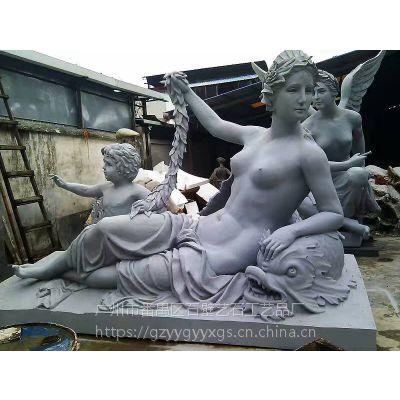 砂岩欧式女神天使四季女神摆件西方人物雕塑