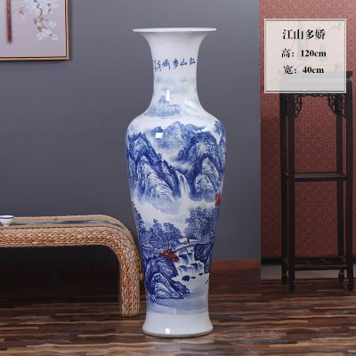 供应景德镇瓷器大花瓶,玄关摆件陶瓷花瓶订做