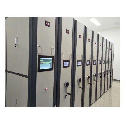 厂家直销移动档案密集架钢制资料凭证柜手摇式轨道电动智能带地轨