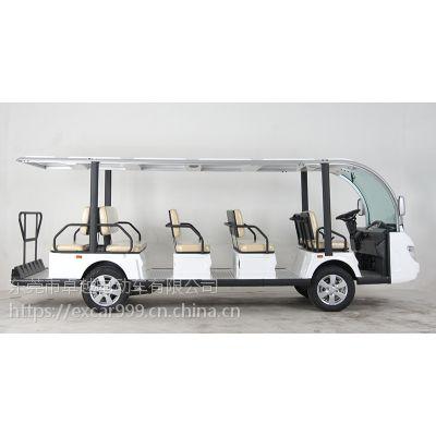 卓越厂家直销供应14座电动车观光游览车酒店接待车承重大动力足!