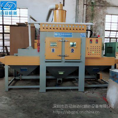 供应大型木材夹板自动喷砂机 家私木板环保无尘喷砂均匀无死角